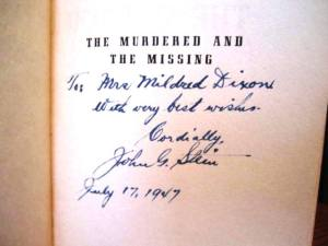 The book was nicely inscribed by author John G. Stein