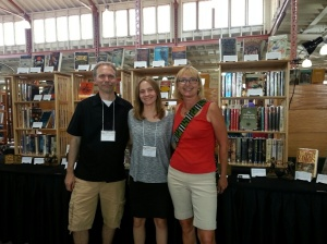 John Phillips with daughter Jennie (Evening Star Books), and me.