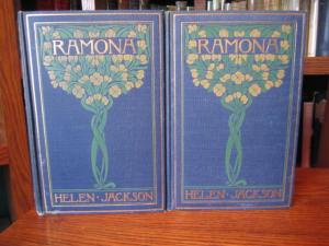 "Two volume set of ""Ramona"" in a decorated binding (Little Brown, 1900) SOLD"