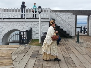 Inside the compound of Fort Mackinac