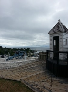 View toward the harbor from Fort Mackinac