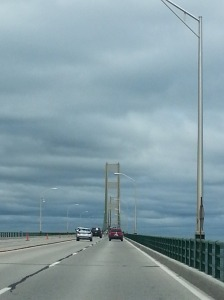 Crossing the Mackinac Island Bridge